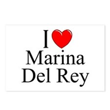 """""""I Love Marina Del Rey"""" Postcards (Package of 8)"""