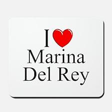 """""""I Love Marina Del Rey"""" Mousepad"""