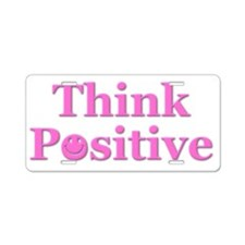Think Positive Pink W Shard Aluminum License Plate