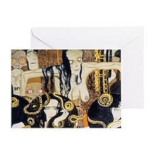 Bags Klimt Frieze1 Greeting Card
