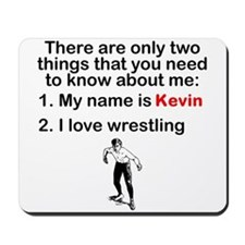 Two Things Wrestling Mousepad