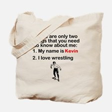 Two Things Wrestling Tote Bag