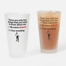 Two Things Wrestling Drinking Glass