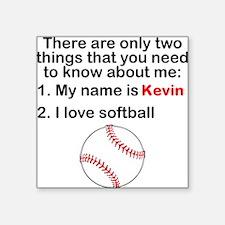 Two Things Softball Sticker