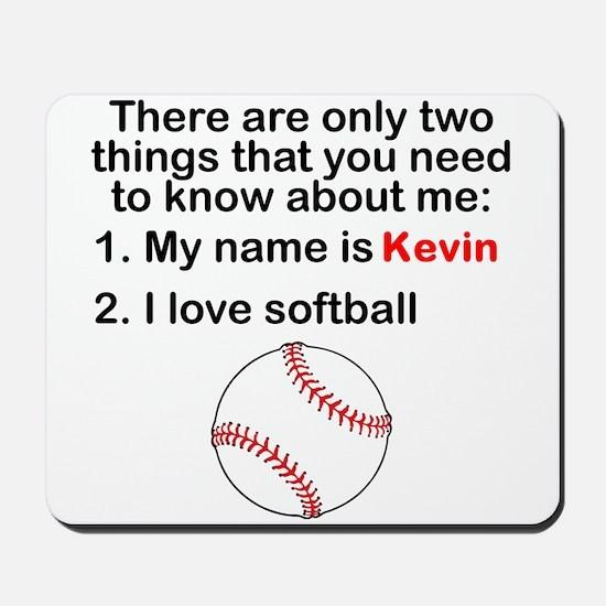 Two Things Softball Mousepad