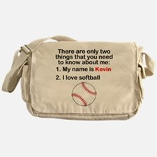 Two Things Softball Messenger Bag
