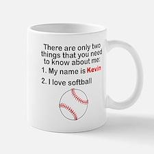 Two Things Softball Mugs