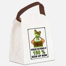 OBAMA GEKKO Canvas Lunch Bag