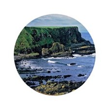 "The rugged coastline is shaped by the  3.5"" Button"