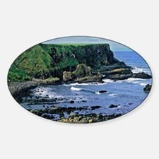 The rugged coastline is shaped by t Decal