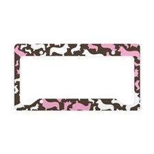 corgiswirl_pink License Plate Holder