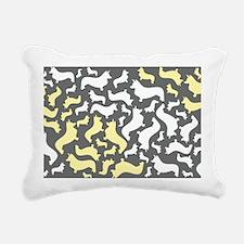 corgiswirl_yellow Rectangular Canvas Pillow