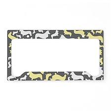 corgiswirl_yellow License Plate Holder