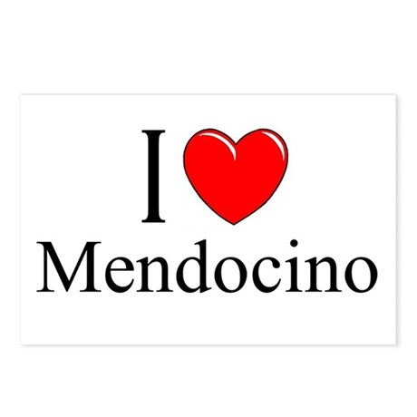"""I Love Mendocino"" Postcards (Package of 8)"