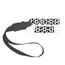 Mom, black basic font Luggage Tag