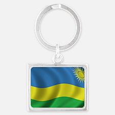 rwanda_flag Landscape Keychain