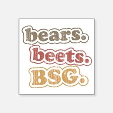 "bearsbeets Square Sticker 3"" x 3"""