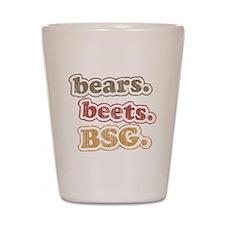 bearsbeets Shot Glass