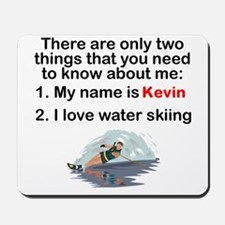 Two Things Water Skiing Mousepad