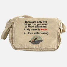 Two Things Water Skiing Messenger Bag