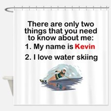 Two Things Water Skiing Shower Curtain