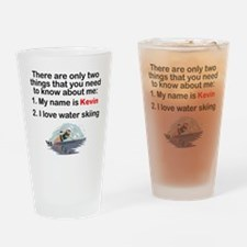 Two Things Water Skiing Drinking Glass