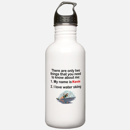 Two Things Water Skiing Sports Water Bottle