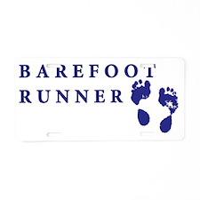 barefoot_runner2 Aluminum License Plate