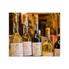 Custom Wine Bottles at Gundel Most f Throw Blanket