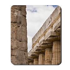 Italy, Campania, Paestum. Columns of the Mousepad