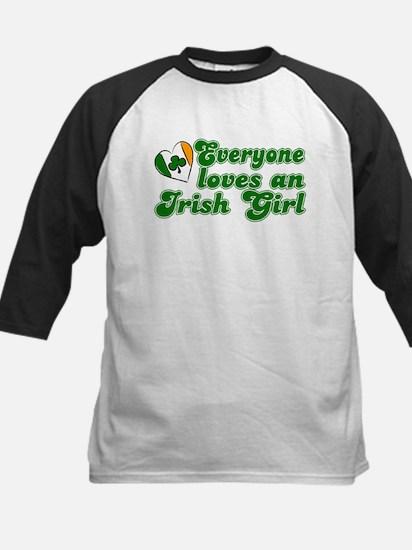 Everyone loves an Irish Girl Kids Baseball Jersey