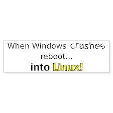 Reboot to Linux Bumper Bumper Sticker