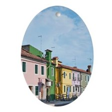 Europe, Italy, Venice, Burano, House Oval Ornament