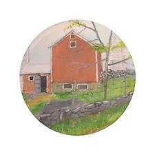 "Barn in Fall - Warwick NY 3.5"" Button"