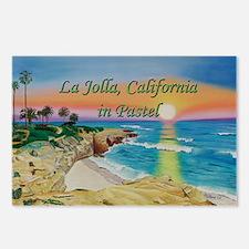 Moon Rocks Sunset d shirt Postcards (Package of 8)