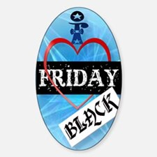 I Love Black Friday PosterP Sticker (Oval)
