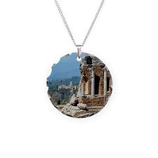 Smoke from erupting Mt. Etna Necklace