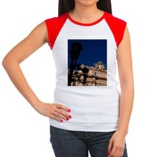 Famous Trevi Fountain w Women's Cap Sleeve T-Shirt