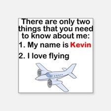 Two Things Flying Sticker