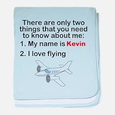 Two Things Flying baby blanket