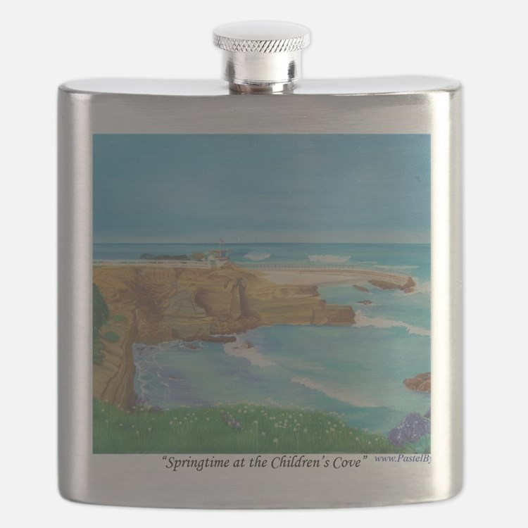 Springtime at the Childrens Cove a shirt Flask