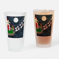 SantaDachshundLaptop Drinking Glass