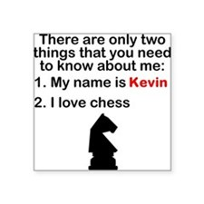Two Things Chess Sticker