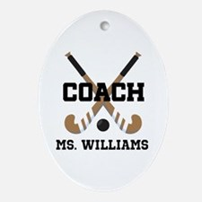 Personalized Field Hockey Coach Ornament (Oval)