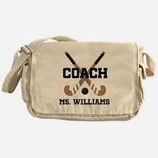 Personalized Field Hockey Coach Messenger Bag