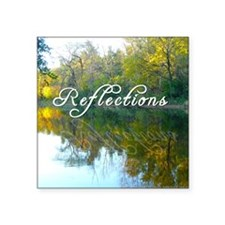 "reflections Square Sticker 3"" x 3"""