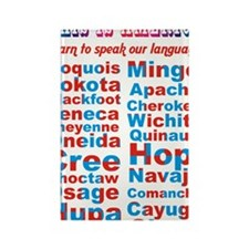 Speak Our Language Rectangle Magnet