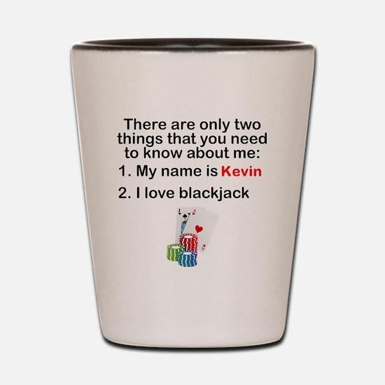 Two Things Blackjack Shot Glass