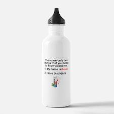Two Things Blackjack Sports Water Bottle
