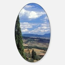 Pienza. A view across the Tuscan hi Decal